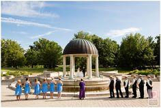 Breathtaking http://nathanieledmunds.com #gazebo #wedding #party #bride #groom #green #outdoors #sky