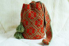 Crocheted Large wayuu mochila bag wayuu tecnique tapestry crochet traditional…
