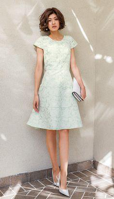 ジャカードワンピース お呼ばれスタイル 特集 | 女性ファッション通販サイトFABIA(ファビア)