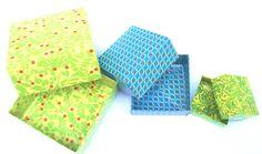 Schachteln & Schatullen - Origami Papierschachtelsatz 3-teilig - ein Designerstück von farbspuren bei DaWanda