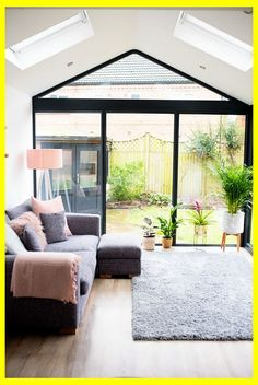 Our Modern Conservatory Extension- Before and After (Home Renovation Project - Mummy Daddy Me - April 13 2019 at Orangerie Extension, Conservatory Extension, Garden Room Extensions, House Extensions, Home Remodeling Diy, Home Renovation, House Extension Design, House Design, Extension Ideas