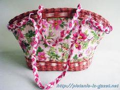 """Elena Tischenko's tutorial of """"Meadow looking newspaper bag. Part 7"""""""