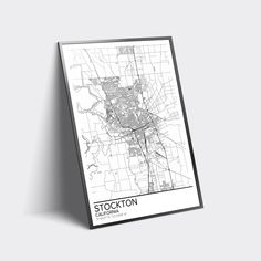 c8094d5b Excited to share the latest addition to my #etsy shop: Stockton map poster  print