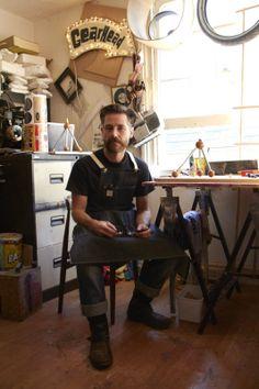 Laurie in his Studio