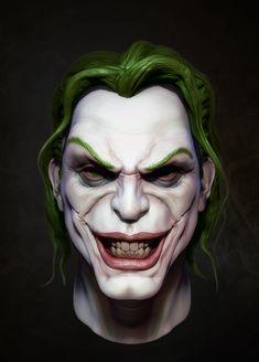 The Joker, Michael Gonsalves on ArtStation at http://www.artstation.com/artwork/the-joker-c9bfd07f-d6b4-40d2-a99c-132c37973a0a