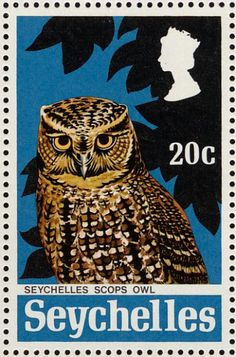Seychelles Scops Owl stamps - mainly images - gallery format