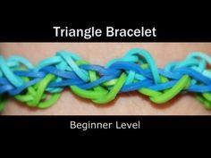 Rainbow Loom® TRIANGLE Bracelet. Offset triangles. - YouTube