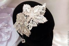 """Купить Свадебное украшение- накладка в прическу """"Amelia"""" - украшения ручной работы, украшение для невесты"""