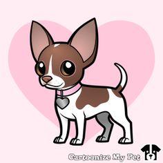 Chihuahua designed on CartoonizeMyPet.com