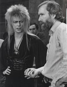 Bowie: Are you sure this shirt isn't *too* sexy, Jim? Henson: No one's going to be looking at your shirt, David, trust me. (From Labyrinth: The Ultimate Visual History)