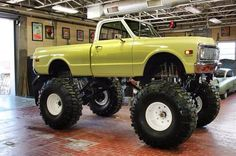 """Love the truck... not so much the ridiculous lift and tires. Maybe a 3""""-6""""(6 is the very most I would even consider) and maybe some 33's or at the very most 35's anything more is just for looks and isn't really useable, other than to be a pavement princess whoch is a waste of good truck... why spend money on something if you cant use it properly."""