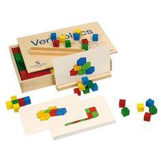 Doe meer met... verti-blocs I Love School, Pre School, Busy Boxes, Stem Science, 1st Grade Math, Educational Toys For Kids, Learning Resources, Pattern Blocks, Teaching Math