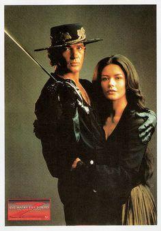 Happy birthday, Antonio Banderas! German postcard by Memory Cards, no. 495. Photo: publicity still for The Mask of Zorro (Martin Campbell, 1998), with Catherina Zeta-Jones.