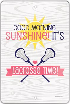 It's lacrosse time lax ladies! Wake up , grab your stick, and go! This cool lacrosse graphic room sign is a great girls lacrosse gift for any lacrosse girl!