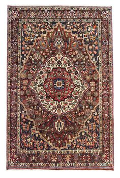 Bakhtiar  Perser Handgeknüpft orientalisch Teppich 298 x 201 cm carpet