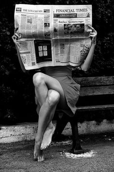 Graceful and graceless. Newspaper and twisted legs. #OldBlackandWhitePhotographs
