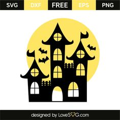 *** FREE SVG CUT FILE for Cricut, Silhouette and more *** Haunted house