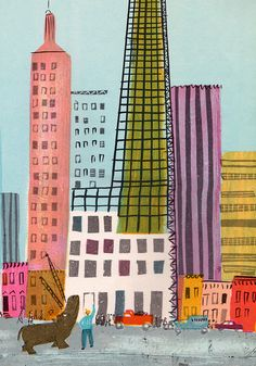 Lonely Veronica by my vintage book collection (in blog form), via Flickr must must must draw more buildings