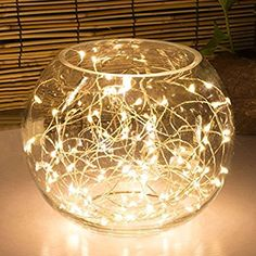 20LED Fairy Light Battery Operated, Oak Leaf LED Lights with Timer Setting Warm White String Lights, 2M Silver Wire Starry Lighting, for Bedroom, Indoor, Christmas Tree, Wedding Decor Idea put in Jars