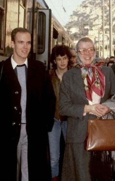 Paris Train Station, April 4, 1982: Princess Grace with her children Albert and Stephanie.