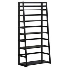 Acadian Ladder Shelf Bookcase Black - Simpli Home