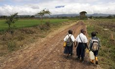 Children going to school in Tanzania Kenya, Time For Africa, Team Mission, Education Today, Walk To School, Arusha, African Safari, East Africa, Bae