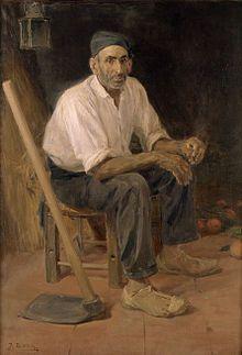 El Tío Andreu de Rocafort, José Benlliure, Museo de Bellas Artes de Valencia