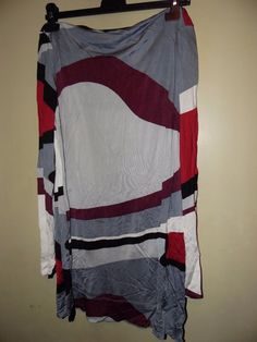 F&F Black, grey, red's & white Top Adult Size 16