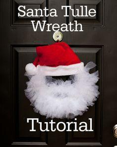 Santa Tulle Wreath instructions