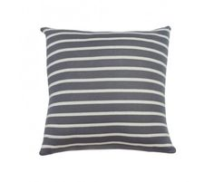 The perfect nautical grey striped pillow.  Wouldn't this be comfy sewn from a Jersey Knit Fabric?  Great for my sun room that I want to have a beachy cottage feel.