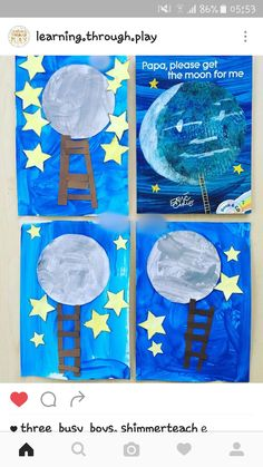 Planet crafts for kindergarten Kindergarten Crafts, Preschool Crafts, Planet Crafts, Eric Carle, School Lessons, Early Learning, Book Crafts, Lesson Plans, Planets