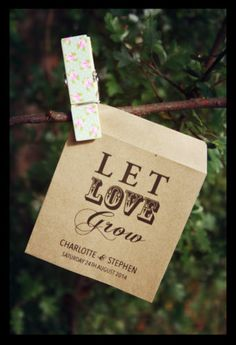 20 Personalised Vintage / Shabby Chic Design Seed Packets Wedding Favour