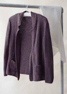 Erika Knight Studio Linen Sorrento Cardigan Knitting Pattern PDF