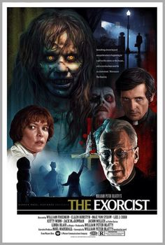 "The Exorcist Lunchbox by Christopher Franchi ♥:-) one of my all-time favorite movies! I absolutely love older horror films, they were definitely creepier! ""The EXORCIST"" Horror Movie Poster Fan Art Horror Movie Posters, Cinema Posters, Movie Poster Art, Fan Poster, Exorcist Movie, The Exorcist 1973, Scary Movies, Good Movies, Excellent Movies"