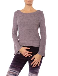 66c92de0d8f0e0 Three Dots - Chunky Heather Thermal. Fabrication: 59% rayon, 38% polyester