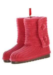 Ugg Boot Womans Fashion Christmas Ornament Red
