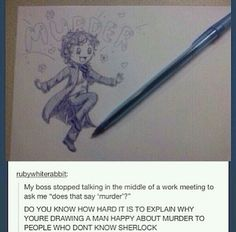 Explaining Sherlock xD <<< that's a REALLY good picture of sherlock :) <~~ I can't stop laughing XD