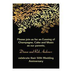 golden anniversary invitation