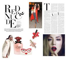 """""""Red and nude"""" by akanksha-mahajan on Polyvore featuring Dolce&Gabbana and Kate Spade"""