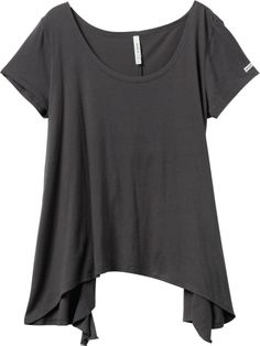 This is a perfect toss on and go style. I love the draped style in this charcoal tone.