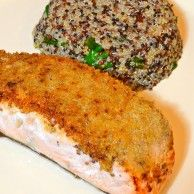 Salmon with Organic Panko and Isa Souza's Quinoa Recipe. Packed with protien, this dish is for the healthy Food Lover.