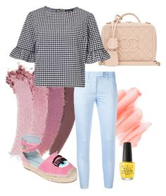 """Business Casual"" by rachelwalker-3 on Polyvore featuring Gucci, Birchrose + Co., OPI, Dondup, Chanel, Miss Selfridge, Chiara Ferragni, Spring, ootd and statementshoes"