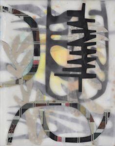 "Chin Yuen   Pulse   encaustic collage, 10""x8"" /sm"