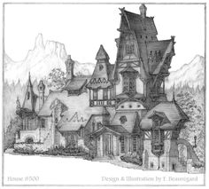 Portrait of House Number 500 by ~Built4ever on deviantART  (if my life were a fairy tale)