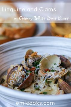 Seriously delicious and simply amazing! Fresh linguine with clams in a creamy white wine sauce.