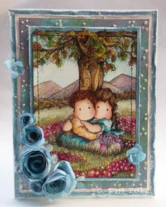 Like the use of the pearls - gorgeous coloring too!  I love this stamp!