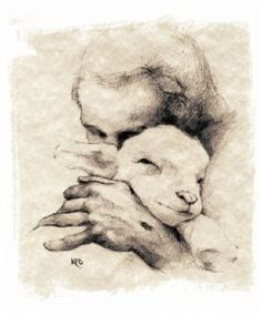 the Lamb of God This is why I love sheep so much. Jesus the good shepherd and perfect lamb. Lord Is My Shepherd, The Good Shepherd, Jesus Shepherd, Image Jesus, Bibel Journal, Creation Art, Prophetic Art, Jesus Art, Jesus Pictures