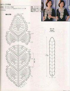 crochet pineapple scarf ... I'd prefer it as a runner