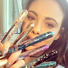 Brush hands  some of the colours available! I'm still working on the website so I won't be officially launching until next week.    #liquidglitter #liquidglitter #makeupbrushes #glitterbrushes #veganbrushes #makeup