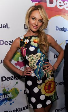 Candice Swanepoel at Desigual photocall